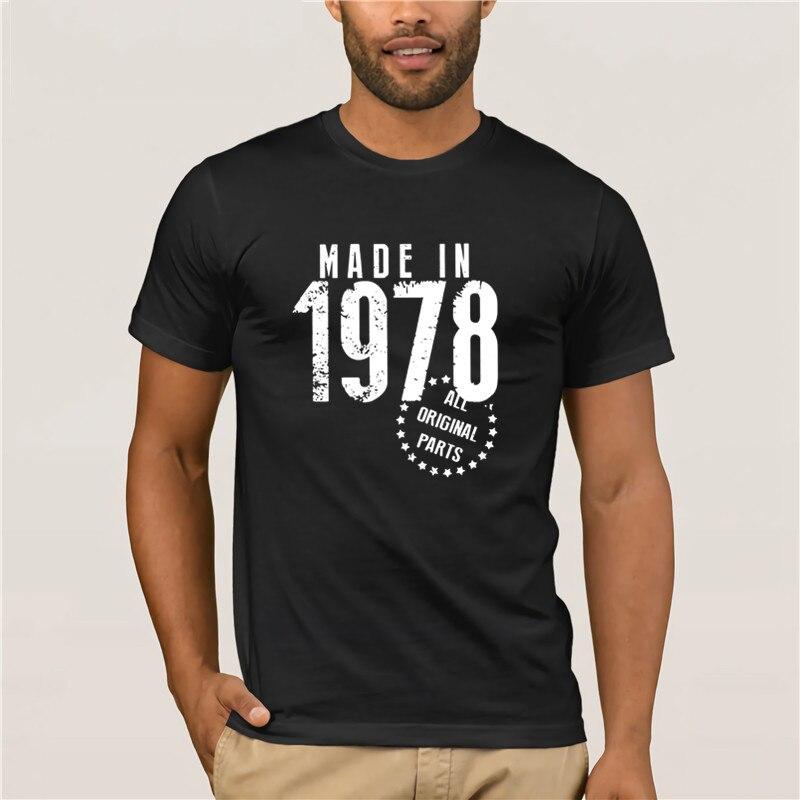 Camiseta a la moda 2020 hecha en 1978, todas las piezas originales, camiseta exclusiva de cumpleaños para hombre, ropa mangas cortas para hombres
