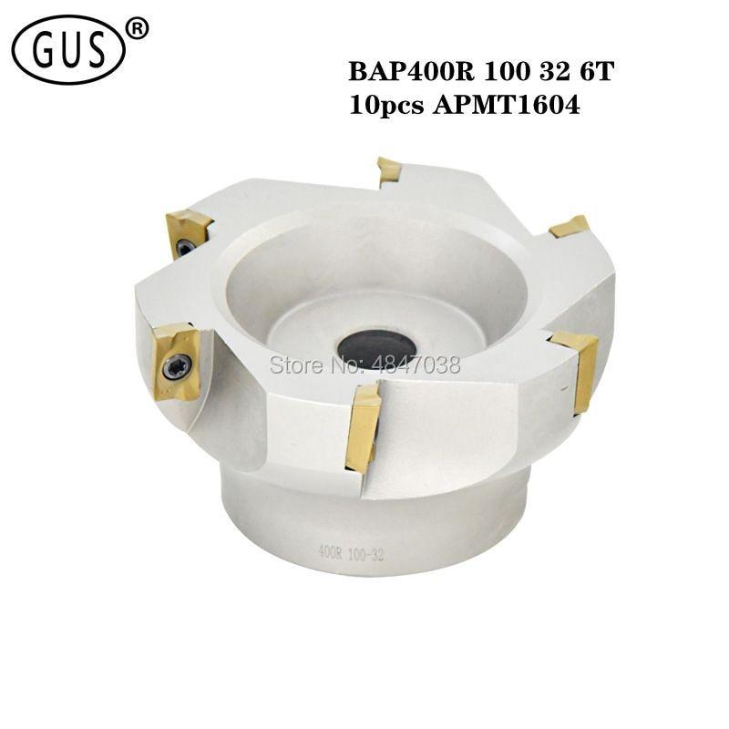 1 BAP400R 100 32 6T الوجه قاطعة المطحنة رئيس ، ومناسبة ل APMT1604PDER كربيد إدراج الوجه قاطعة المطحنة ، ومناسبة ل NC/نك