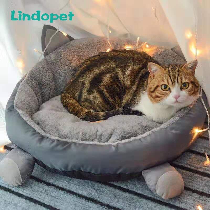 Perro gato adorable cama estera animal de dibujos animados en forma de perreras sofá tumbona suave mascota casa almohadilla grande cesta perro colchón suministros para mascotas