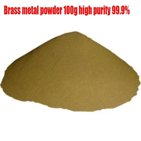 Латунный металлический порошок 100 г, металлический порошок высокой чистоты 99.9%, хорошая теплопроводность, изготовлен из высококачественных...