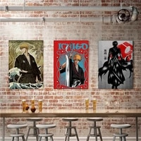 anime bleach poster painting japanese anime wall decor hanging poster canvas poster boy room home art decoration printing poster
