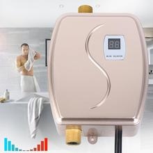 3000W Tankless Mini Electric Water Heater Instant Boiler Shower Kitchen Bathroom