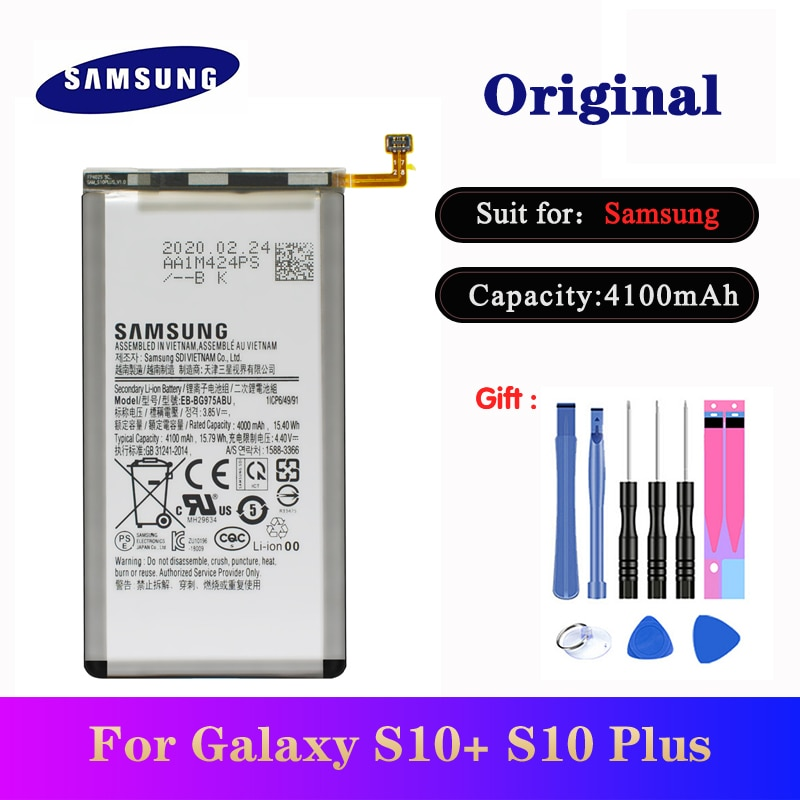 Batería EB-BG975ABU para Samsung Galaxy S10 + S10 más SM-G975F G975U G975W G9750 Original Li-Ion batería 4000mAh