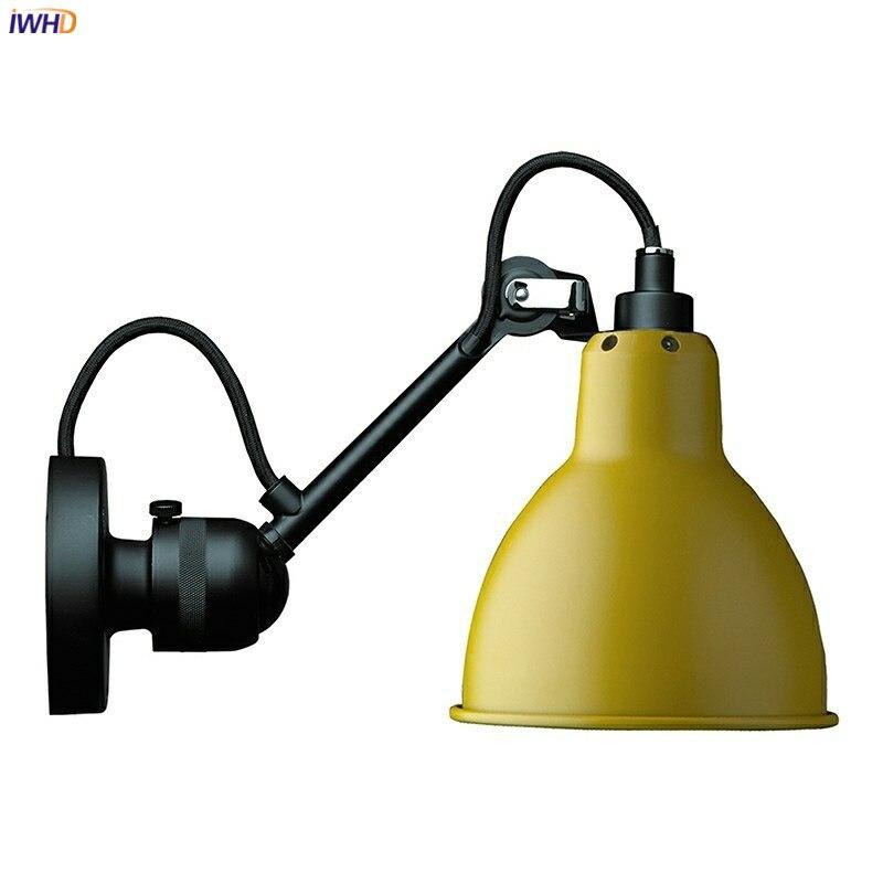 IWHD-مصباح جداري LED على الطراز الاسكندنافي الحديث ، مصباح ذراع ميكانيكي قابل للتعديل ، مصباح بجانب السرير ، غرفة نوم ، دراسة ، غرفة معيشة