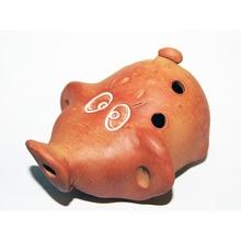 Mn-oms-4 Okarina small souvenir pig, workshop Nikiforov