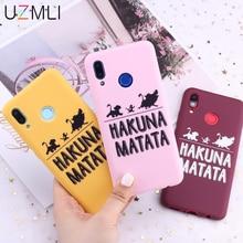 Pour Huawei Honor Mate 20 10 P20 P30 Pro Lite P Smart Nava 9x 8x Hakuna Matata Lion roi bonbon souple coque de téléphone Capa Funda