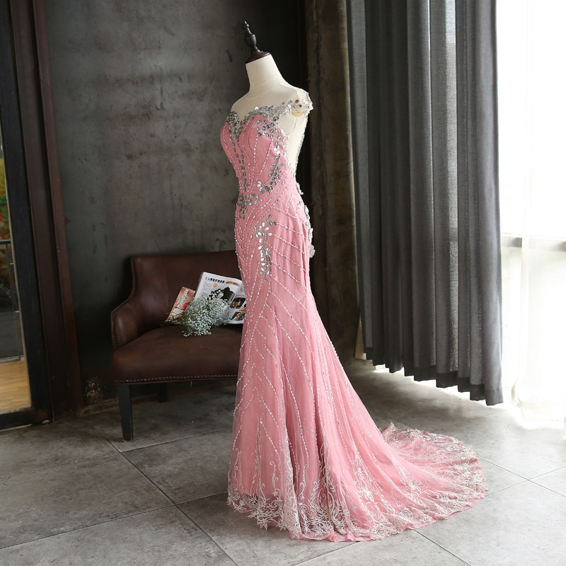 One Shoulder Prom Dresses Ruched A Line Front Slit Tulle Hand Made Flowers Plus Size Party Evening Gowns