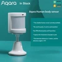 Aqara     Mini capteur de mouvement intelligent  ZigBee  systeme dalarme de securite domestique sans fil  pour Xiaomi Mijia Homekit