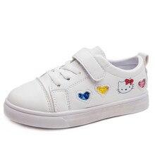 مرحبا كيتي لطيف أحذية رياضية الأطفال هوك و حلقة لطيف جميل حذاء كاجوال أطفال الترفيه حار مبيعات طفل الفتيات الأحذية