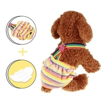colorful breathable safety dogs physical pant dog rainbow fashion underwear pet dog panties flower puppy shorts dog diapers