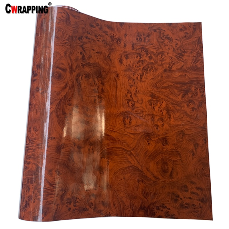 Car Stickers 30*100cm PVC Wood Grain Textured Stickers Protective Car Wrap Film 3 Colors Car Styling