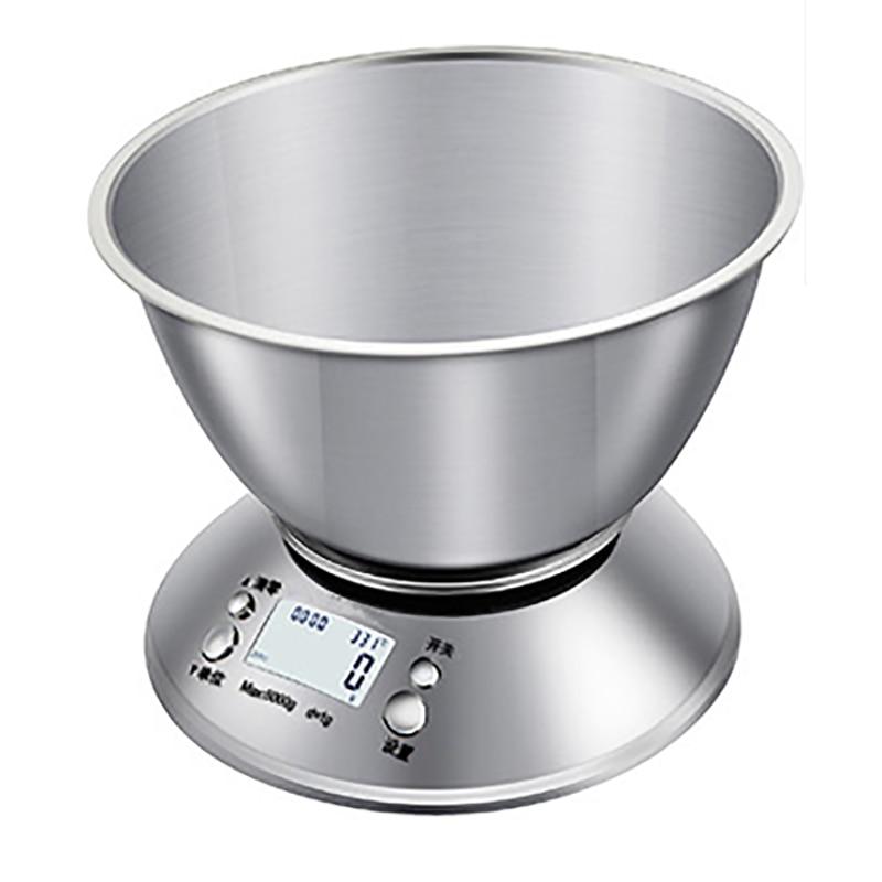 5 كجم/1 جرام الفولاذ المقاوم للصدأ المطبخ مقياس المنزلية الصغيرة الالكترونية المطبخ مقياس المطبخ ميزان الطعام الدقة الرقمية