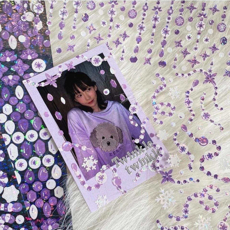 Лазерные бисерные наклейки для домашних животных, бесшовные сверкающие лазерные декоративные наклейки, материал для куклы, самодельные на...