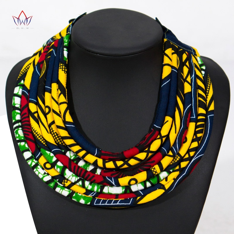 2020 Multi-layered Handmade Jewelry Necklaces Ankara Fabric Necklaces African Bib Statement Necklaces Tribal Jewelry WYA07 c quanchi woman jewelry statement necklaces