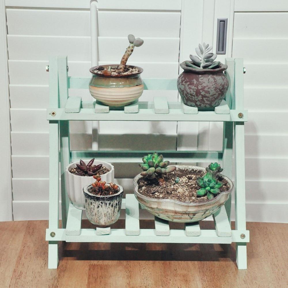 1pc Wooden Plant Shelf Flower Display Rack Multifunctional Indoor Storage Shelf Blacony Living Room Plant Flower Stand недорого