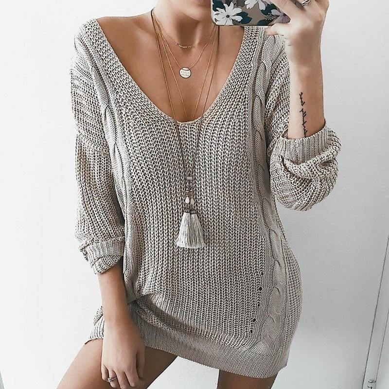 European and American Internet Hot Popular Knitwear Autumn and Winter Sweater Women's Clothing