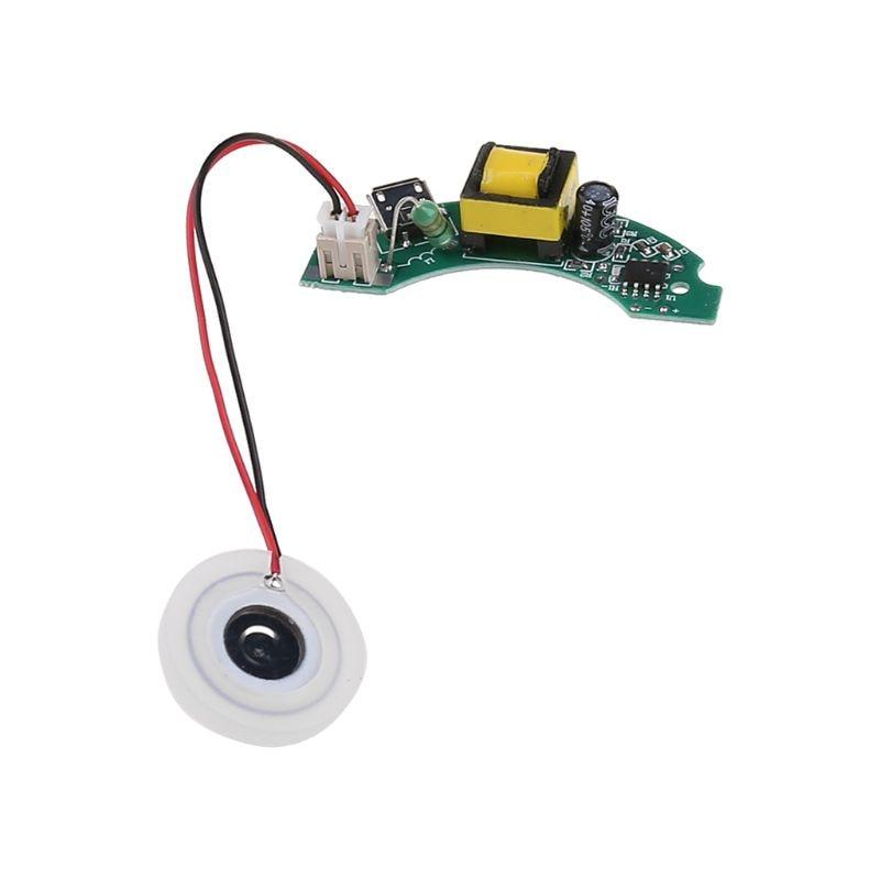 Mini humidificador USB DIY Kits fabricante de niebla y placa de circuito del conductor Fogger atomización película atomizador hoja