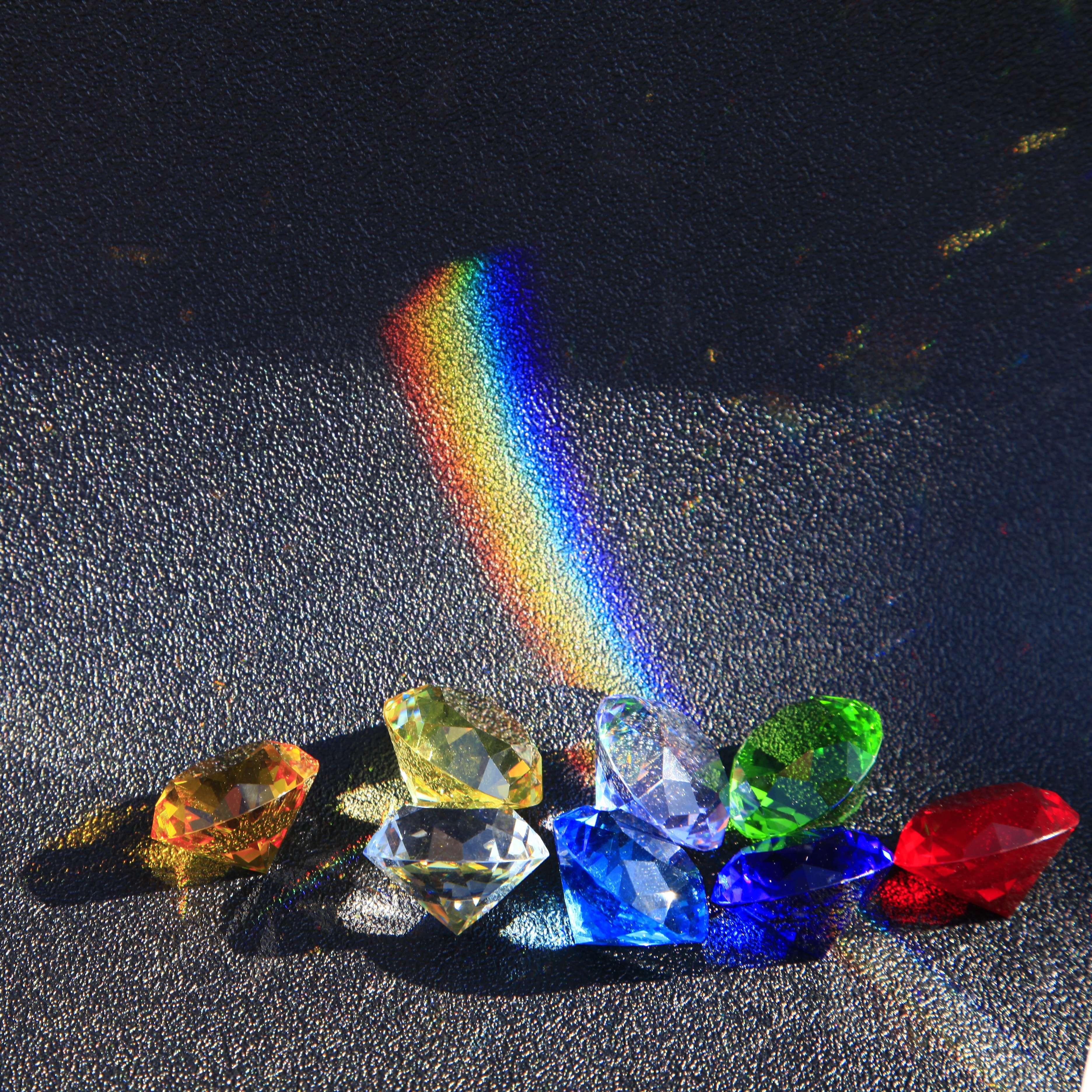Decoração de Cristal Lago Azul Vidro Diamante Grande Proposta Romântica Casa Decoração Enfeites Festa Chrismas Presentes 80mm