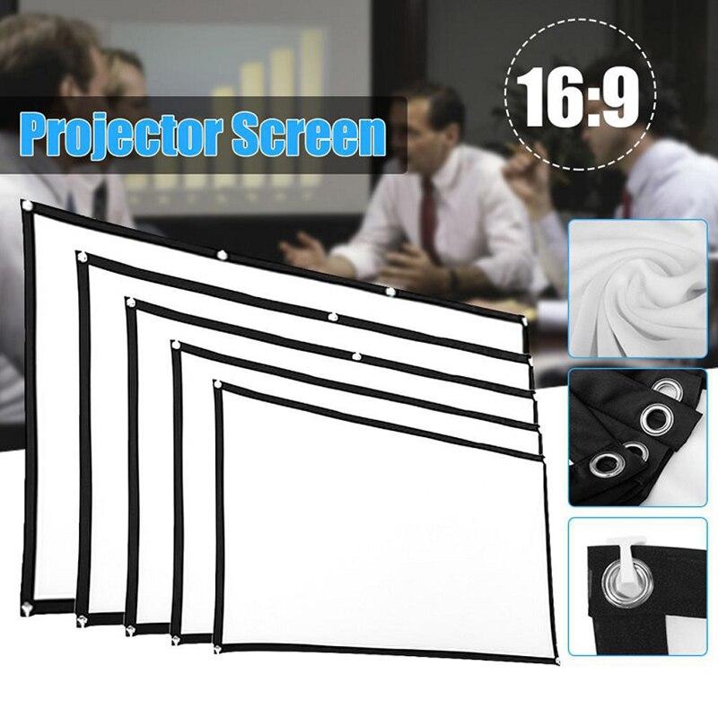 Практичный 60-150 дюймовый экран для проектора, складной экран HD для проектора с защитой от сгибов, экран для проектора, пленка для домашнего к...