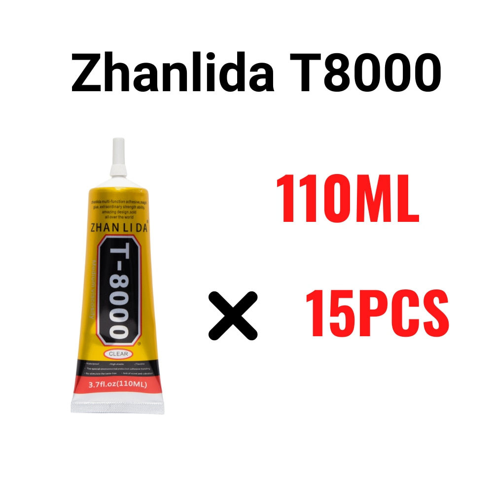 cola de vidro transparente zhanlida t8000 110ml adesivo de contato transparente multiuso