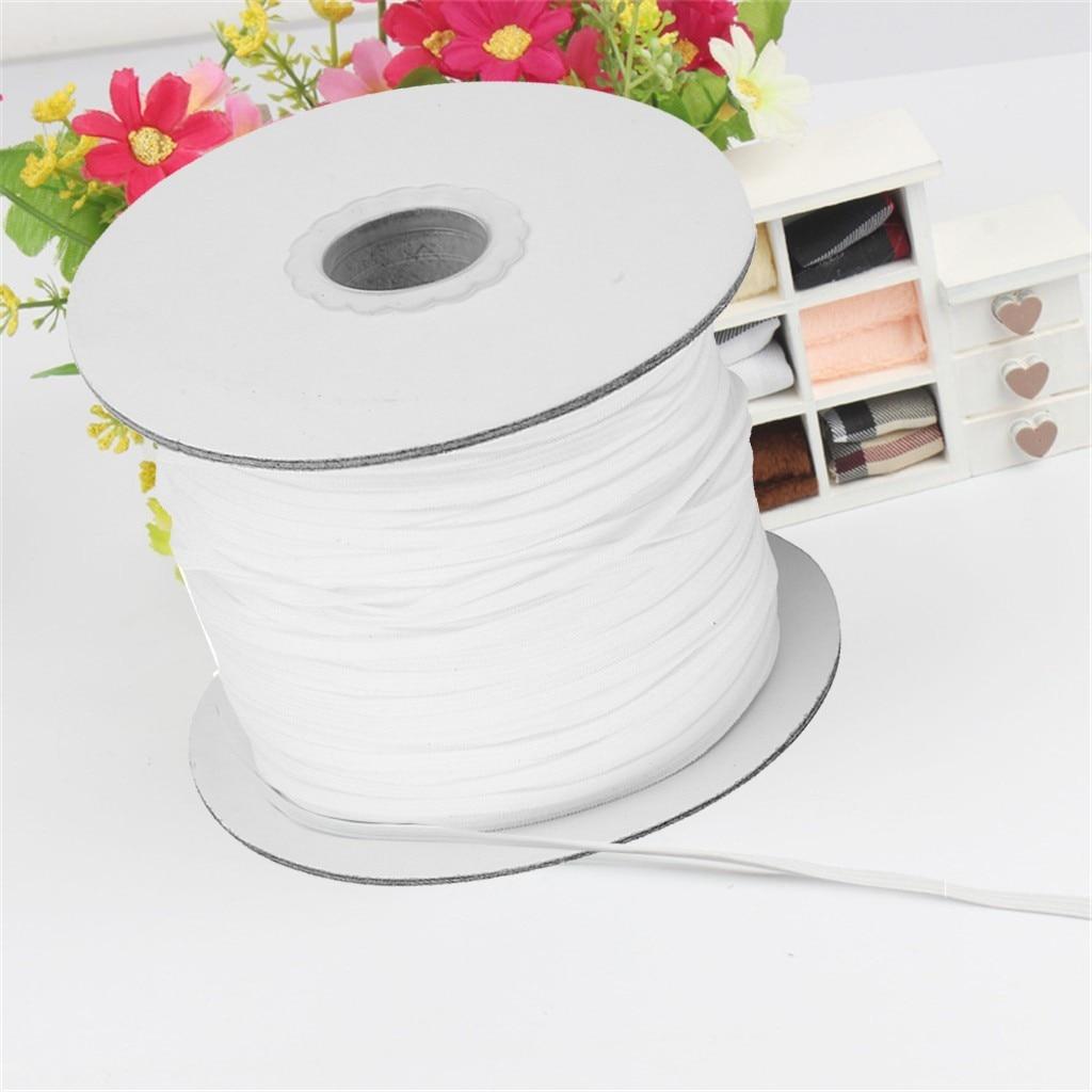 Banda elástica trenzada de 200 yardas de longitud, 1/8 de ancho, elástico pesado, banda elástica de punto de alta elasticidad para manualidades de costura DIY
