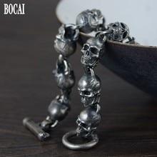 Nouveau 100% vrai solide S925 pur argent bijoux Thai argent Bracelet pour hommes détachable Taro argent Bracelet hommes argent Bracelet
