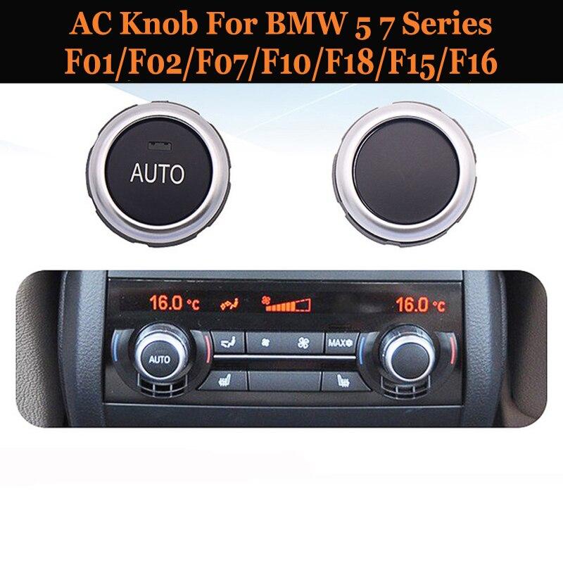 AC Knob Air Conditioning Temperature Adjustment Heat Control Switch Knob For BMW 5 7 Series F01/F02/F07/F10/F18 F15/X5 F16/X6