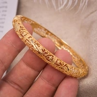 1pcs bride women bangle bracelets gold color can open leaf cuff bangles for women men wedding jewelry hand accessories