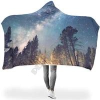 starry sky light various types hooded blanket 3d print wearable blanket adults men women polynesian drop shipping 02