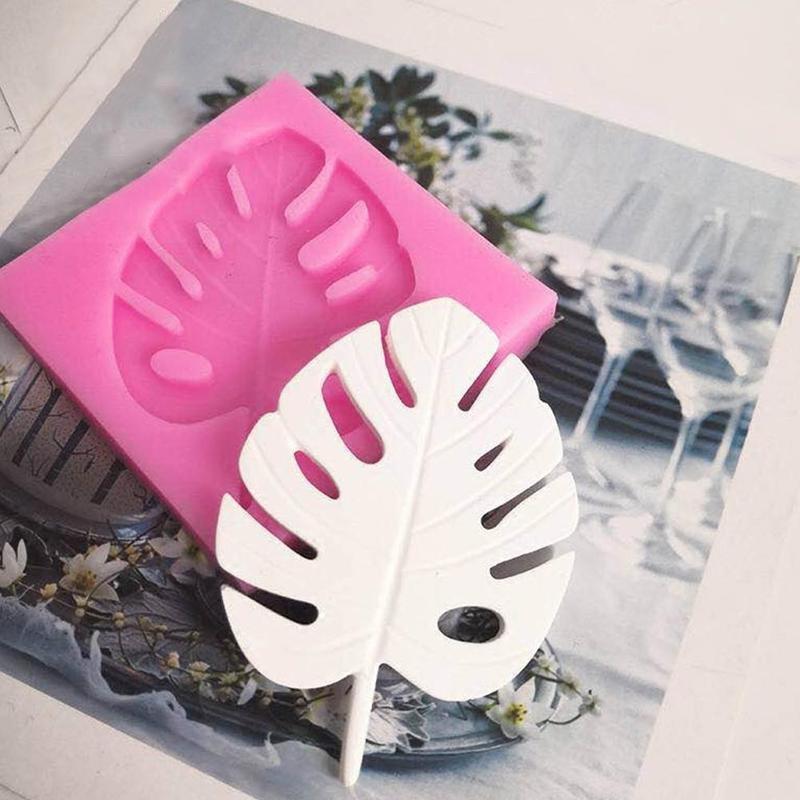 3D Chocolate molde de hornear de silicona árbol hoja moldes silicona molde tortuga hoja Fondant Chocolat gumpasta molde pastel decoración herramientas
