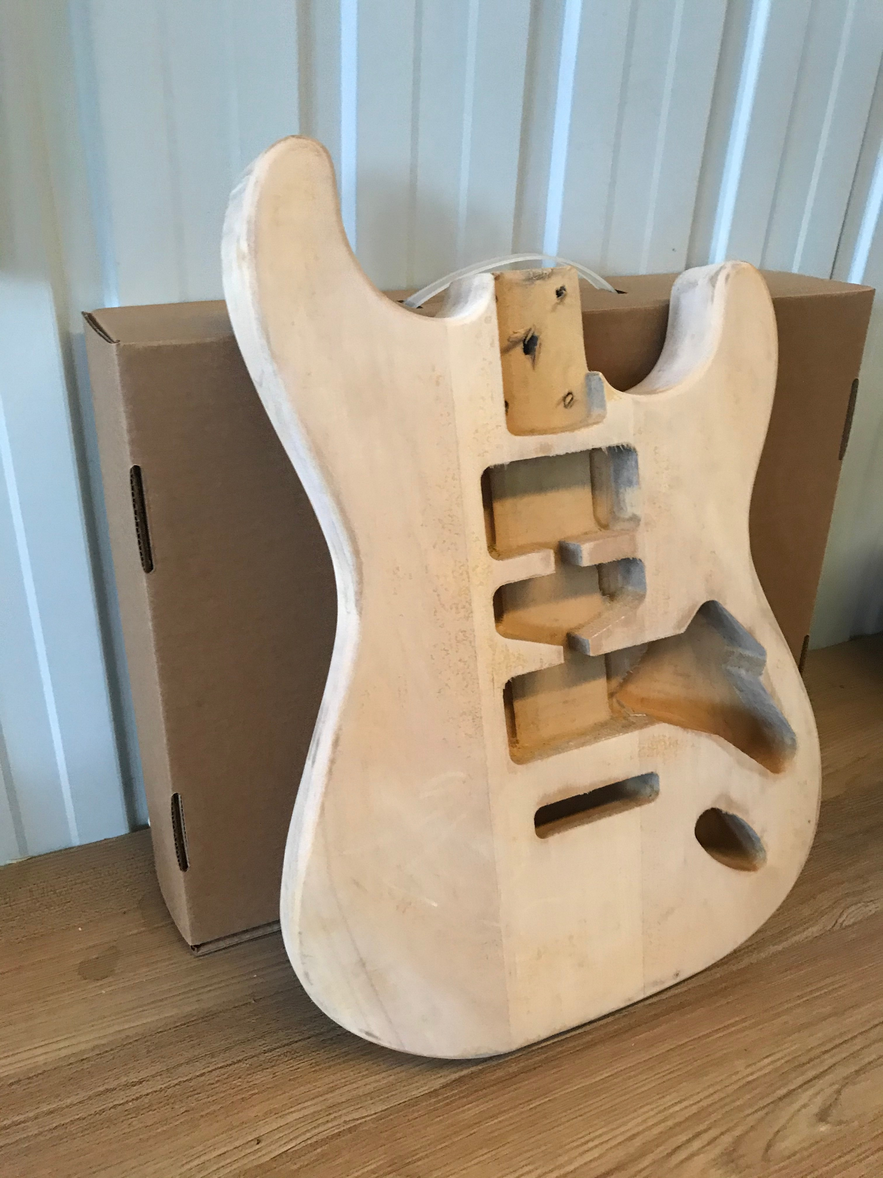Unfinished Guitar Body Free Ship Solid Wood Blank Guitar Barrel for Fenda Style Electric Guitars DIY Parts Guitar Accessories enlarge