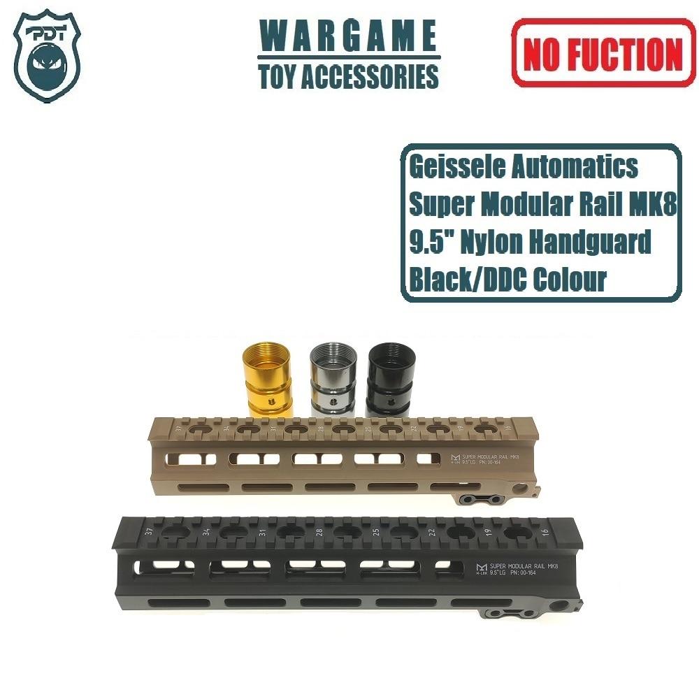 "9,5 ""супер модульная рельса Geissele Automatics MK8 M-Lok Handguard для J9 Gen9 SLR CYMA игрушка гель Blaster страйкбол AEG GBB"