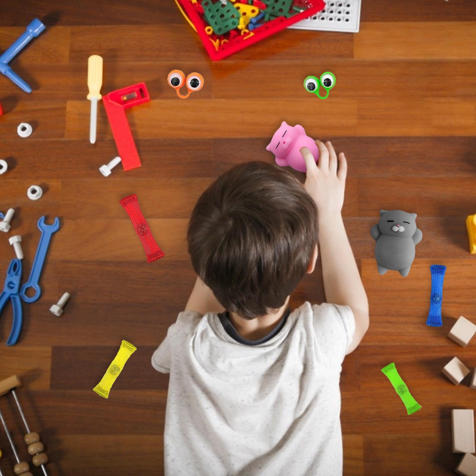21PCS Pack Fidget Sensory Toy Set Stress Relief Toys Autism Anxiety Relief Stress Pop Bubble Fidget Toys For Kids Adults enlarge