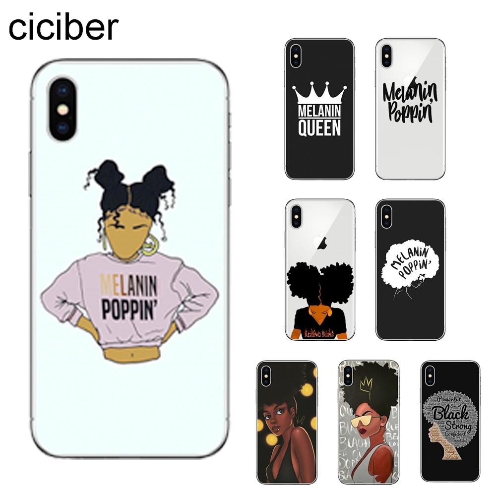 Ciciber capa de telefone para apple iphone, iphone 7 8 6 6s plus x xr xs max 5S se, tpu macio capa para iphone 11 pro max coque melanina poppin