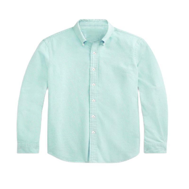 D906 أوم صغير الحصان المهر عالية الجودة 100 ٪ القطن قميص الذكور فستان بكم طويل قمصان عادية موضة Hombre كم نمط