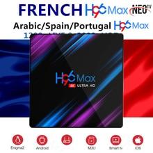Android 9.0 TV Box H96 MAX NEO pro français IPTV canada Iptv Europe lecteur multimédia 4G Ram H.265 4K Smart TV Box BT4.0 décodeur TVBox