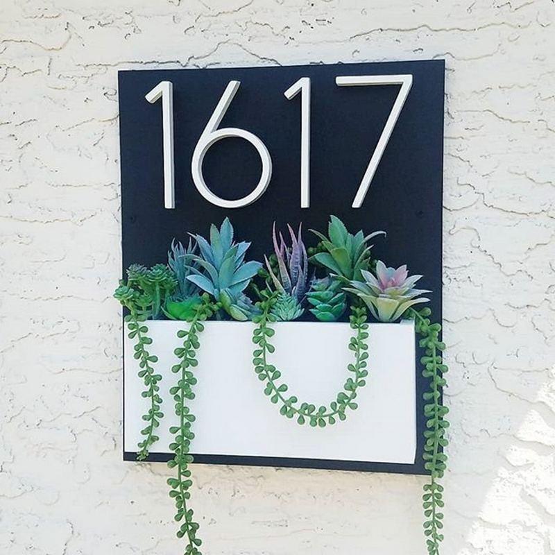 Números de dirección modernos para puerta de casa, números de señal exterior...