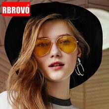 RBROVO 2021 Luxury Vintage Women Sunglasses Metal Glasses Men Street Beat Shopping Mirror Classic Oc