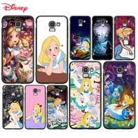 silicone cover princess alice disney for samsung galaxy j8 j7 duo j6 j5 prime j4 plus j3 j2 core 2018 2017 2016 phone case