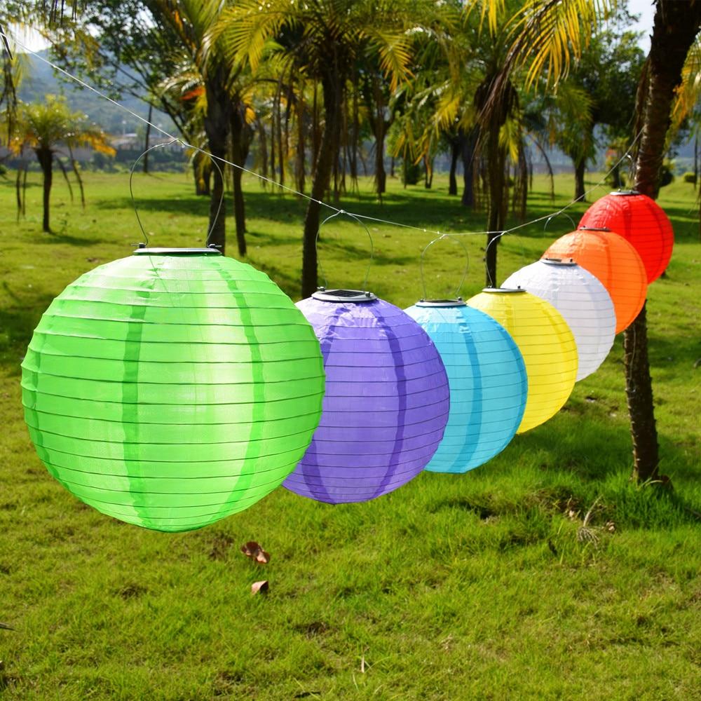 AliExpress - Garden Outdoor Solar Fairy Lights LED Festival Lanterns Hanging China Celebration Lamp Waterproof 7 colors Landscape Lighting