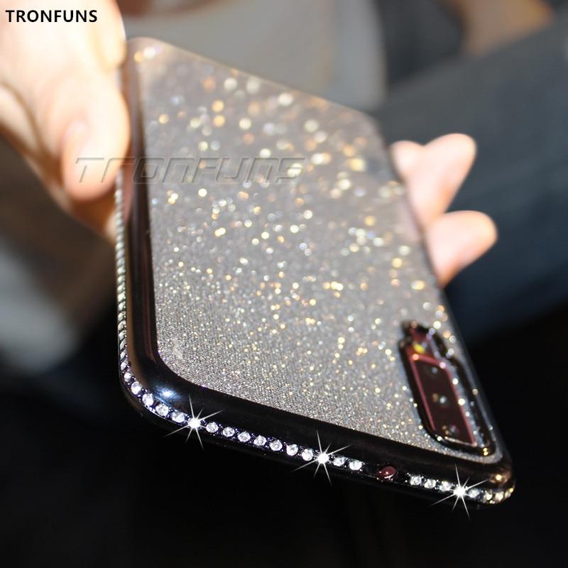 Diamond Soft Case for Samsung Galaxy A70 A50 A30 A40 A20 A10 A60 A80 A90 M10 M20 M30 For Samsung A7 2018 A750 Glitter TPU Cover