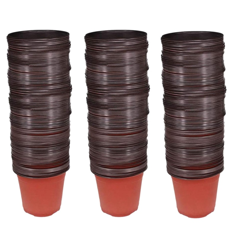 150Pcs 4.72 Inch Plastic Flower Seedlings Nursery Supplies Planter Pot/Pots Containers Seed Starting