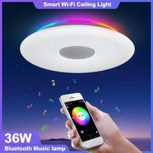 OFFDARKS ذكي LED ضوء السقف واي فاي التحكم الصوتي سمّاعات بلوتوث APP التحكم عن بعد غرفة نوم المطبخ الموسيقى مصباح السقف