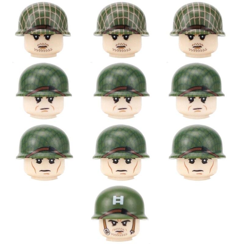 WW2 US Airborne Division 101st Soldier Figures Building Blocks Military Army US Helmet Guns Accessories Bricks Toys For Children