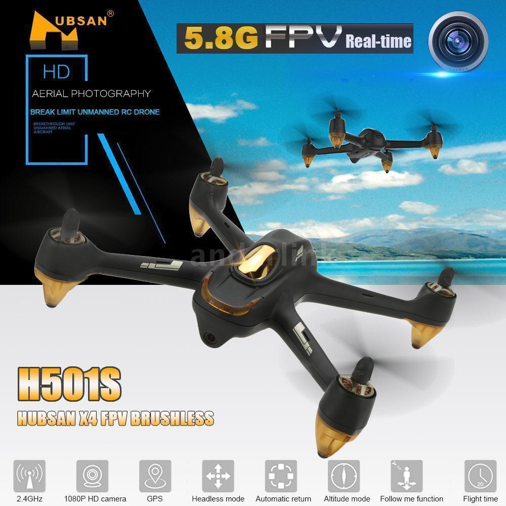 Hubsan X4 H501S X4 sin escobillas FPV RC Quadcopter Drone sólo BNF cuerpo de avión con 1080P HD Cámara GPS transmisor negro blanco