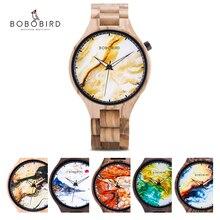 Reloj Masculino BOBO BIRD personalizado, reloj personalizado para hombre, marca de lujo, impresión fotográfica, relojes de pulsera Marbling, reloj Masculino, Dropshipping