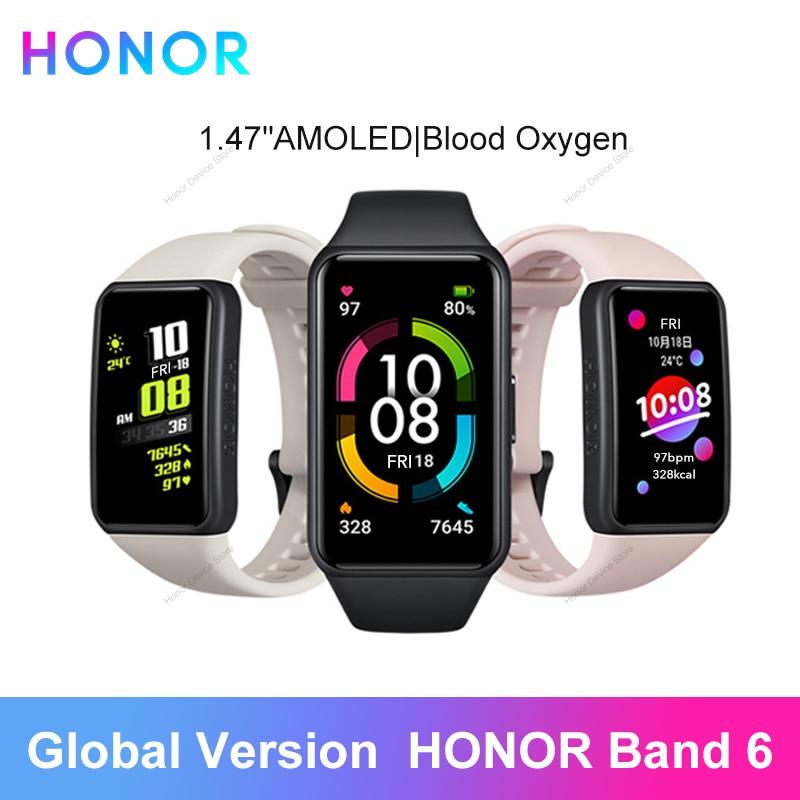Оригинальный Смарт браслет Honor Band 6, часы китайской версии, пульсометр, датчик насыщения крови кислородом, Spo2, сенсорный экран Amoled, водонепроницаемый|Смарт-браслеты| | АлиЭкспресс