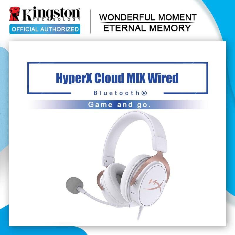 Kingston HyperX Cloud MIX-auriculares, por cable, caja de juegos para PS4 con micrófono boom desmontable, auriculares portátiles ligeros con Bluetooth
