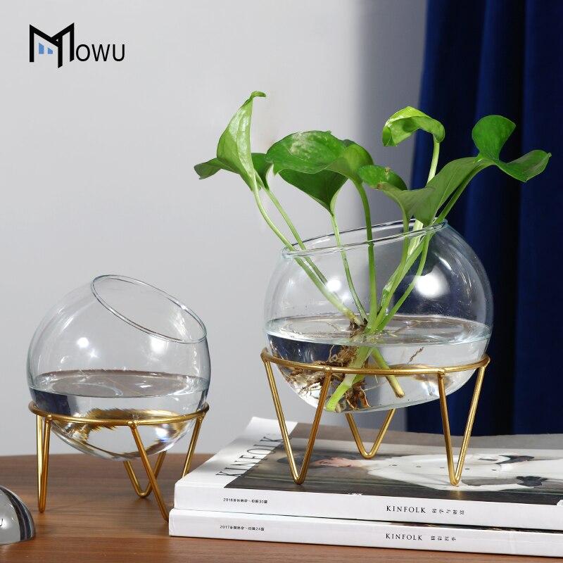 Planta hidropónica florero terrario geométrica envases de vidrio flor casa decoración de mesa   Multifuncional