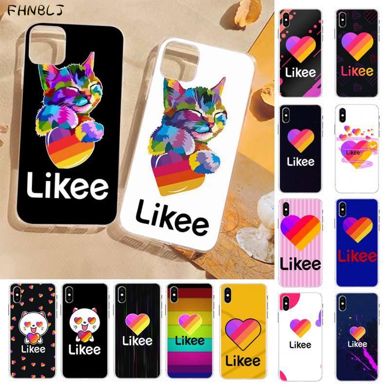 Fhnblj like gato engraçado urso amor coração caso de telefone para iphone 11 pro xs max 8 7 6 s plus x 5S se 2020 xr